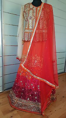 women ladies LEHENGA choli bridal designer party wear Bollywood skirt top style