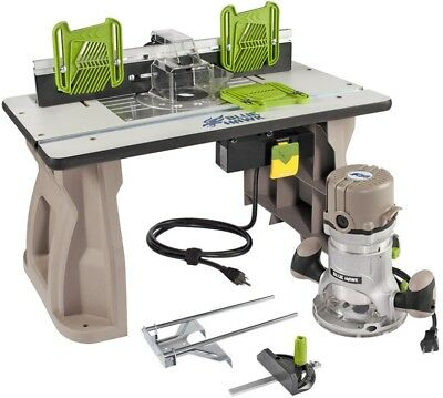 2 HP Fixed Corded Router with Table Dust Collection LED Light 11 Amp 25K RPM