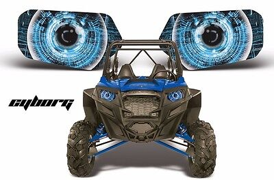 AMR Racing Polaris RZR 800/900 UTV Headlight Graphics Eye Sticker Decals CYBRG U