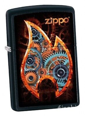 STEAMPUNK FLAME Black Matte ZIPPO neu+ovp COLLECTION 2018