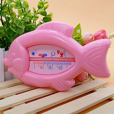 Baby Fish Shape Bath Thermometer Floating Toy Tub Sensor Temperature Plastic