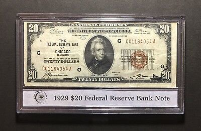 1929 Chicago 20$ National Currency Federal Reserve Note Fr-1870G (P974)