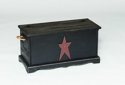 Primitive Pine Storage Chest with Rustic Star - Amish Made in the USA - 9 Colors