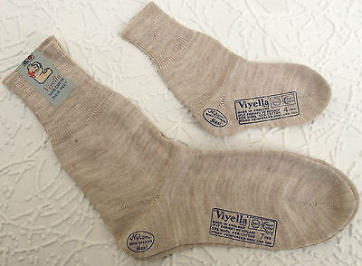 Vintage socks children baby UNUSED 1950s boy girl VIYELLA short plain LASTEX