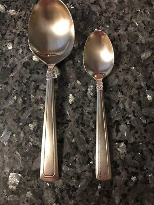 Longaberger Woven Traditions Flatware Serving + TeaSpoon LoT 2pc PreLoved