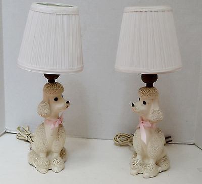 Pair of Vintage Poodle Lamps by Flair 1956