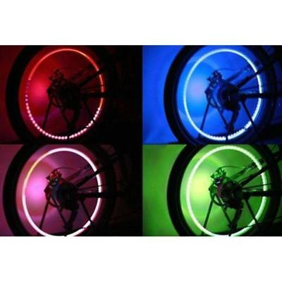 Coloured Valve Stem Light Covers Motorcycle Car Truck Bicycle