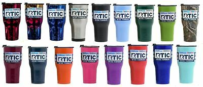 RTIC 30OZ STAINLESS STEEL DOUBLE WALL TUMBLER Many Colors FREE SHIPPING!