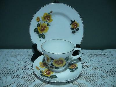 Vintage Crown Trent Bone China Floral Trio - Cup Saucer Plate - High Tea - Gc