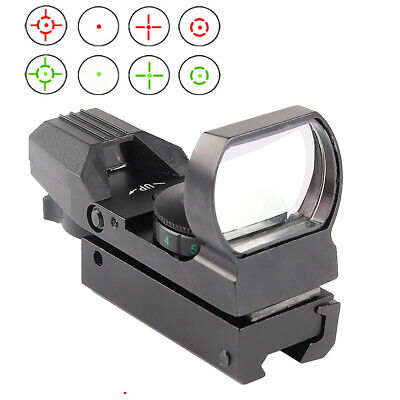 Red Dot Reflex Sight Green Holographic Scope Tactical Rifle Mount 20mm 11mm Rail