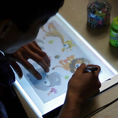 New A4 LED Artist Thin Art Stencil Board Light Box Tracing Drawing Board Table O