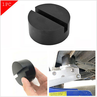 Car Vehicles Slotted Frame Hydraulic Floor Jack Rubber Pad Kit Black Rubber 1pc