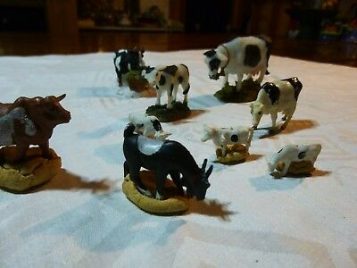 Lot Cow Farm Animals Plastic and O'WELL