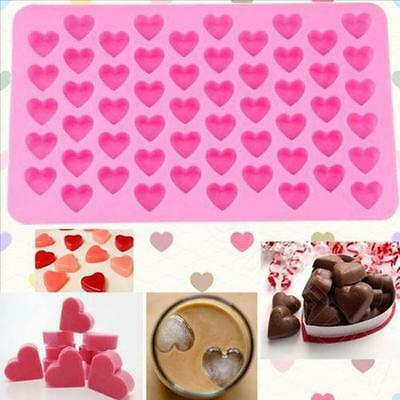 Hot Silicone Cute Heart Design Cake Chocolate Cookies Candy Baking Mould Molds