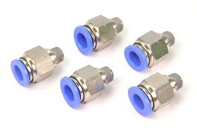 "25PCS Pneumatic Push in Connector 3/8"" OD Tube x 1/8"" Male NPT Thread Coupler"