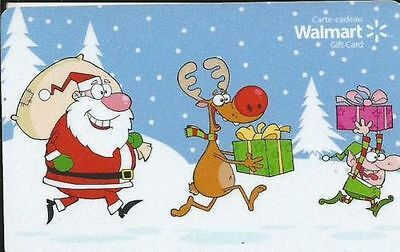 WALMART Limited Edition Holiday Gift Card 2014 New No Value BILINGUAL