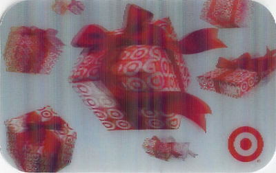 Target Gifts Flying Presents Red Bows Lenticular 3-d Gift Card Collectible Only