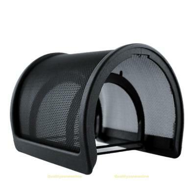 #QZO Double Layer Recording Microphone Windscreen Filter Mask Shield Black