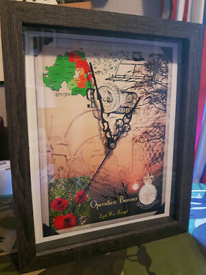 British Army 1 Operation Banner Northern Ireland 10 X 8 Box Frame Picture Clock