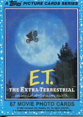 E.T. The Extra Terrestrial Complete 87 Card Base Set