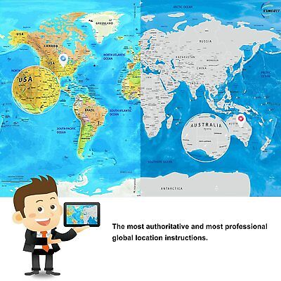 Large Scratch Off Map of the World Poster Wallpaper Personalized Travel Vacation