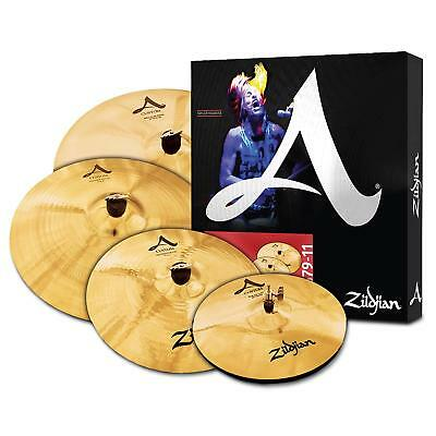 Zildjian A Custom Set Satz Hi-Hat Crash Ride Brilliant Becken Cymbal Schlagzeug