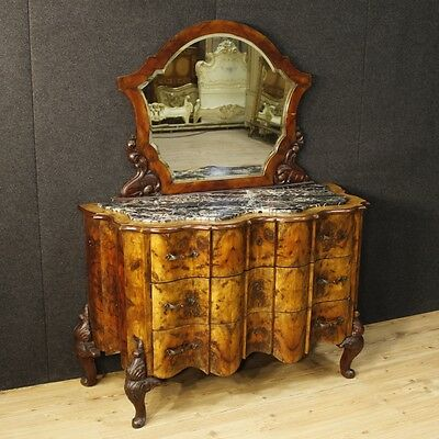 Dresser mirror furniture dresser chest of drawers 3 drawers antique style mirror