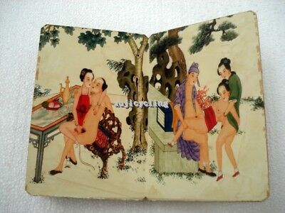 Chinese Old Paper Ancient Handmade Wedding Dowry Painting Book Belle Art