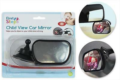 First Steps Child View Car Mirror Baby Shatterproof Fully Adjustable Anti Safety