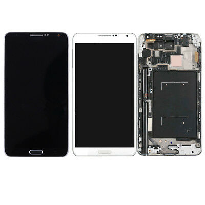 For Samsung Galaxy Note 3 N900A N900T ATT LCD Touch Screen Digitizer + Frame US