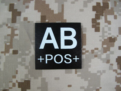 WR-APOS-IR-MC Warrior Dummy A POS Blood Type Patch IR Reflective Multicam
