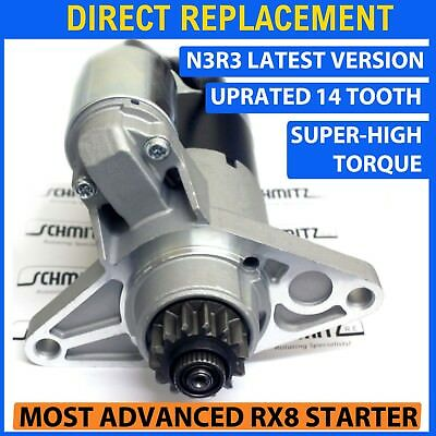 fits MAZDA RX8 STARTER MOTOR 2003-2012 NEW HEAVY DUTY 14 TOOTH SUPER HI TORQUE