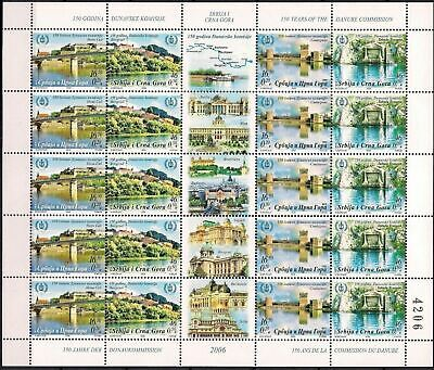 Serbia 2006 Bridge River Danube Map Castle Building Emperor Trajan Tourism MNH/5