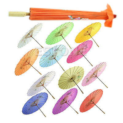 Chinese Japanese Umbrella Parasol Wedding Dance Party Art Deco Printed Classic