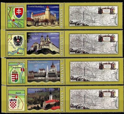 Romania 2010 Danube Arms Fortress Abbey Castle Parliament Palace Building Map **