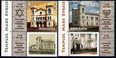 Romania 2013 Jewish Temple Synagogue Heritage Building Architecture 2v,lbs MNH/2
