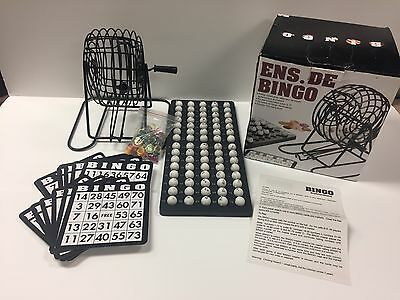 bingo game set w/ Metal Rotary Cage