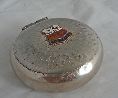 Vintage Lidded Tobacco Box. Douglas, Isle Of Man Crested Souvenir