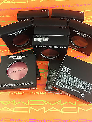 Mac Blush Choose Powder/sheertone 100% Genuine Bnib 6G Various Shades