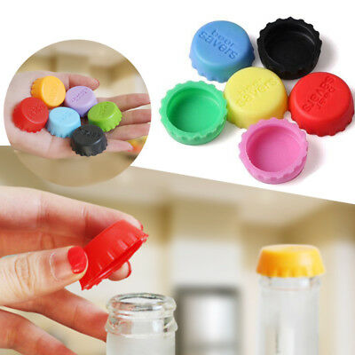 6Pcs/Bag Silicone Bottle Caps Beer Cover Coke Soda Lid Wine Saver Reusable