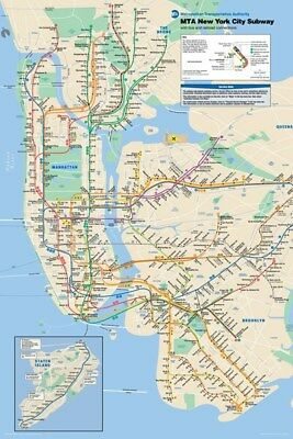 New Subway Map of New York Poster
