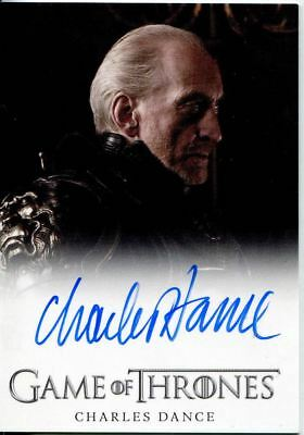 Games Of Thrones Season 2 Autograph Card  Charles Dance as Tywin Lannister