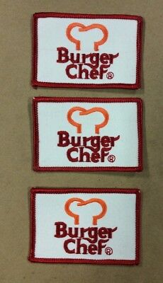 3 Burger Chef Patches Vintage INV-P026
