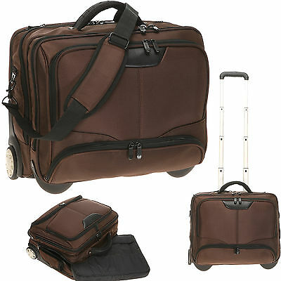 Trolley DERMATA BUSINESS XL Pilotentrolley Pilotenkoffer Bag Trolly 3456 BRAUN