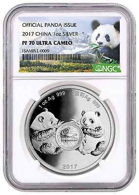 2017 China Denver ANA Money Show Panda 1 oz Silver Medal NGC PF70 UC SKU49245