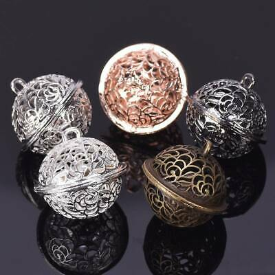 3pcs Hollow Out Metal Bells Rose Gold/Silver Decorative Christmas Making Craft