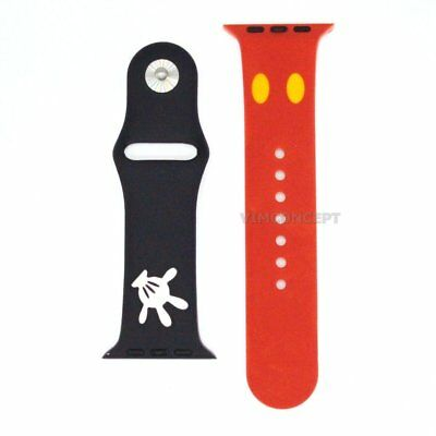 Authentic Disney Mickey Bracelet Strap Band Replacement For Apple Watch 42mm