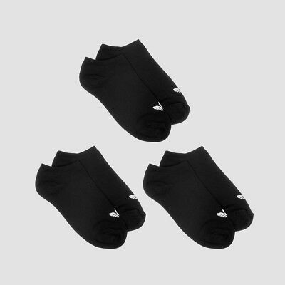 Adidas Trefoil Liner Kids Socks x3 Black/White