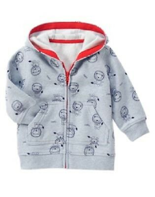 Gymboree Circus Star Blue Red Lion Hoodie Jacket Hooded Zip-Up Fleece NWT