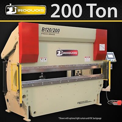 "120"" Iroquois Hydraulic CNC Press Brake, 200 Ton, Made in USA!"